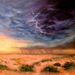 Distant Storm in the Desert