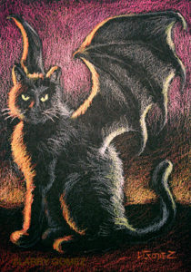 Black winged cat